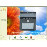 Best Black 200LM IP65 Waterproof Solar Powered Sensor Light Wall Mounted wholesale