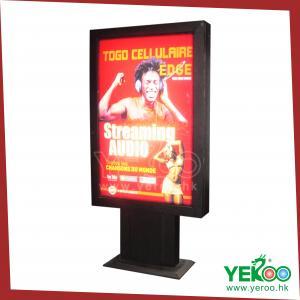 Best T-shape Stainless steel Column floor light box scrolling waterproof light box Frame wholesale