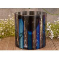 Best Iridescent Decorative Glass Cylinder Candle Holders Vertical Straight-Walled Ombre wholesale