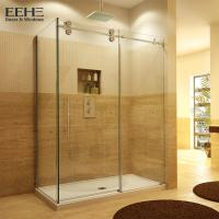 Best Gold Frameless Corner Shower Enclosure , Luxury Etched Glass Shower Doors wholesale