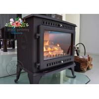 Cheap Environmental Promotional Free Standing Polished Cast Iron Fireplace 12KW for sale