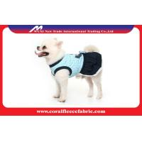 Best Navy Blue / Red Girl Dog Dress Cute Pet Clothes , Small Dog Coats for Winter wholesale