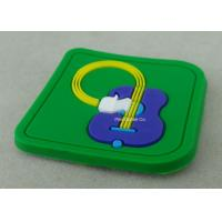 Best Soft PVC Awards 2D PVC Coaster Fridge Magnet , Green Plastic 3D Keychain wholesale
