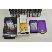 Best IP 68 Purple Waterproof Cell Phone Case For Lifeproof Iphone 4 / 4s wholesale