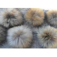 Best Satin Fabric Raccoon Fur Collar Customized Color / Size For Jacket Karpa Accessories wholesale