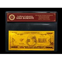 Best Gold crafts American One Billion gold foil banknote for gift wholesale