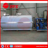 Best Large Scale Stainless Steel Horizontal Milk Cooling Tank 380v / 220v 2000L wholesale