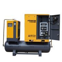 Best Air Cooling High Efficiency 10HP Screw Air Compressor with tank and dryer  Integrated Package wholesale