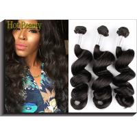 Buy cheap Charming Remy Virgin Hair Virgin Peruvian Hair Extensions , Natural Black from wholesalers