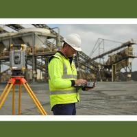 Topographic surveying total station for coordinate measurement
