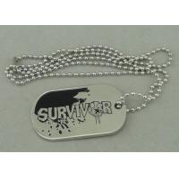 Best Zinc Alloy Survivor Personalised Dog Tags Soft Enamel Long Ball Chain And Nickel Plating wholesale