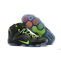 Best Nike Lebron 12 Women Black Green Shoe wholesale