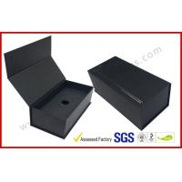 Best Black High End Embossed Paper Boxes Magnetic E-Cigar Packaging wholesale