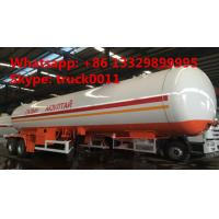 Best factory price 17tons Double axles lpg road tanker trailer, best price 40.5m3 road transported lpg gas tank for sale wholesale