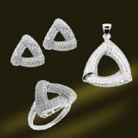 Best Luxurious 925 Sterling Silver Micro Pave Setting Jewelry Set (RSA5366) wholesale