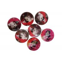 Cheap Round 3D Lenticular Stickers For Keyrings PET Flip Changing Sticker for sale