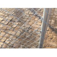 China Swing Industrial Chain Link Fence Gate Water Resistant Long Service Life on sale
