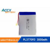 Best 377093pl 377090pl 357090pl rechargeable 377093 357090 3.7v 3000mah lithium polymer battery for mobile phone, tablet PC wholesale