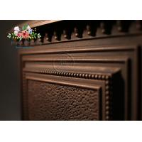 Cheap APOLLO Thickened Cast Iron Wood Burning Fireplace Insert , Chimney Diameter 200mm for sale