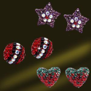 Best Fashion Silver Crystal Stud Earrings (ESQ3370) wholesale