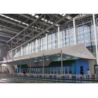Best Double Coated PVC Fabric White Canopy Tent Waterproof 100km/H For Canton Fair wholesale