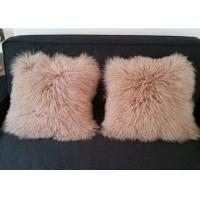 Best Home Fluffy Genuine Mongolian Fur Pillow Ultra Soft With Rectangular Square Shape wholesale