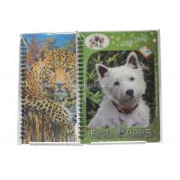 Cheap Cute Souvenir Gift 3D Lenticular Notebook A4 Size Offset UV Printing for sale