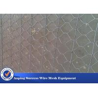 Best Multi Function Rock Baskets Wire Mesh , Rock Gabion Baskets Silver Green Color wholesale