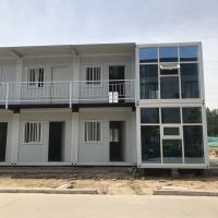 China Portable 20ft Cheap Flat Pack Sandwich Panel Container House for Camp with certificate on sale