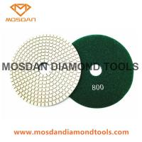 Best 5 Inch White Pane Velcro Concrete Floor Dry Use Polishing Pads wholesale