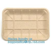 China Meal Prep Eco Friendly Dinnerware Corn Starch Round Food Tray Lid Biodegradable on sale