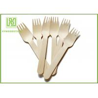 Best Wooden Biodegradable Disposable Cutlery Forks For Picnic Take out Food wholesale