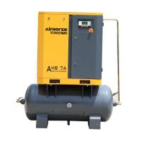 Best 5.5kw 7.5hp low noise oil lubricated screw type air compressor with 300 liter air tank wholesale