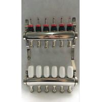 Best White Color Control Floor Heating Manifold Italy Style Flow Meter wholesale
