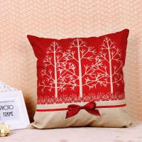 Best Tree Pattern Printed Cushion Covers , Comfortable Couch Pillow Covers Cotton Flax wholesale