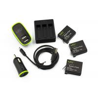 Best GoPro Batteries Set with 3 Channel Charger for GoPro HERO4 Silver / Black wholesale