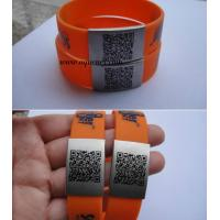 Best Buy Silicone Sport Medical Alert ID Bracelet with engrave words wholesale
