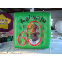 Cheap Green Political Advertising Bal, Inflatable Advertisement Helium Cube for for sale