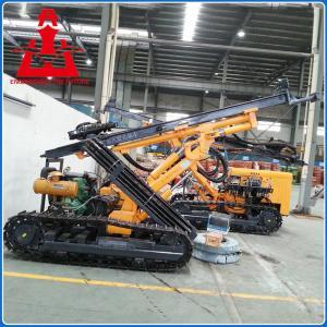 Diesel engine crawler mobile drilling rig machine with adjustable boom