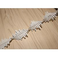 Buy cheap 4cm Embroidered Guipure Lace Trims Azo Free DTM For Bridal Dress Ribbon from wholesalers