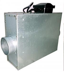 Best Industrial Square Duct Booster Fan , Inline Duct Fan Quiet For Ventilation wholesale