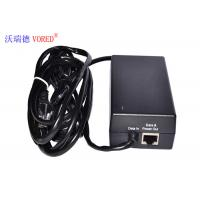 Best Black POE Power Adapter 10 / 100Mbps IEEE 802.3af Compliant Compact Size wholesale