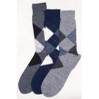 men socks made of grey cotton for autumn