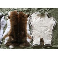 Best Sheared Rabbit Fur Coat Usage , Fluffy Hairs White Rabbit Fur Pelts For Garment wholesale