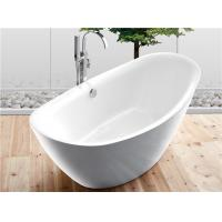 Cheap Traditional Large Oval Freestanding Tub Deep Soaking With Gloss Surface for sale