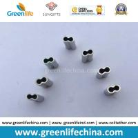 Best 8shape Aluminum Material Crimp in Different Size Silver Color for Fastening Wire/Plastic Cord wholesale