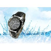 China Stainless Steel Men'S Quartz Wrist Watch Waterproof With Genuine Leather Strap on sale