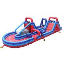 Best U - Shape Giant Inflatable Outdoor Games , Rugged Warrior Challenge 180 Degree wholesale