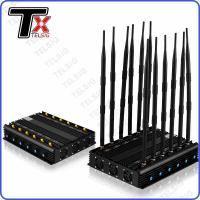 Best Infrared Remote Control Mobile Jammer Device , 12 Antennas Phone Signal Jammer wholesale