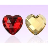 China heart shape flat back sew on stones for wedding dress on sale